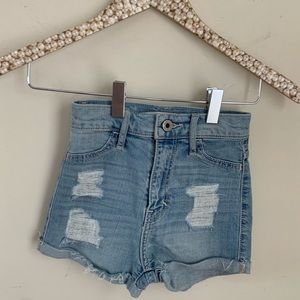 NWT Abercrombie kids distressed high rise shorts